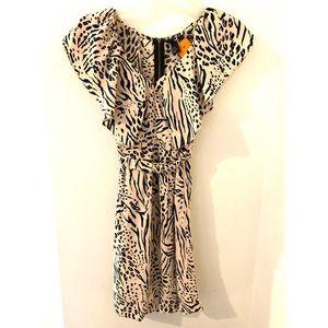 Cream Zebra Print Dress